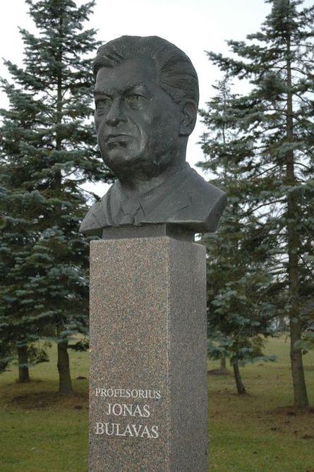 Prof. Jono BULAVO biustas (atidengtas 2003 m. birželio 26 d., skulptorius Marijus Petrauskas)
