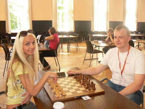 Šachmatininkai Viktorija Beinoraitė ir Kęstutis Vasylius