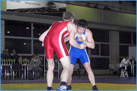 Mūsų Universiteto VŪŽF I kurso studentas LINAS ŠILINIS Lietuvos graikų-romėnų imtynių čempionate iškovojo III vietą