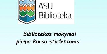 Bibliotekos mokymai pirmo kurso studentams