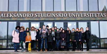 Pirmą kartą šiais metais Universitete svečiavosi ASU klasė