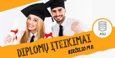 Iškilmingas diplomų įteikimas